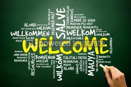 Business: Word cloud of WELCOME in different languages business concept 