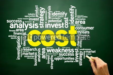 Business: COST word cloud business concept #02772