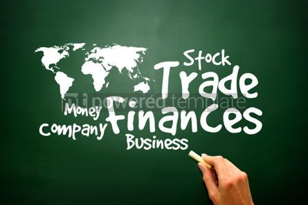 Business: Trade Finances Word collage presentation background
