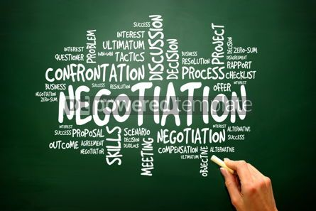 Business: Negotiation business concept words cloud presentation backgroun #02782