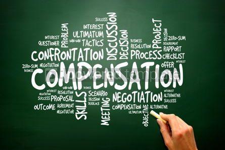 Business: Compensation business concept words cloud presentation backgrou #02783