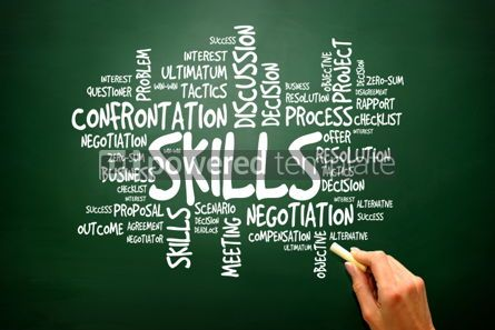 Business: SKILLS business concept words cloud presentation background #02784