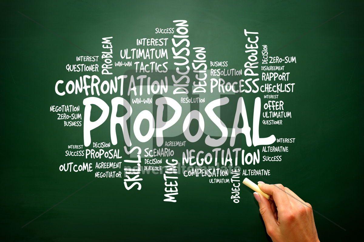 PROPOSAL business concept words cloud presentation background, 02787, Business — PoweredTemplate.com