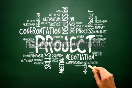 Business: PROJECT business concept words cloud presentation background #02788