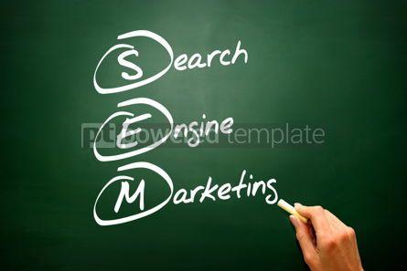 Business: Hand drawn Search Engine Marketing (SEM) concept business strat #02799