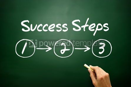 Business: Hand drawn Success Steps (3) concept business strategy