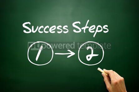 Business: Hand drawn Success Steps (2) concept business strategy  #02807