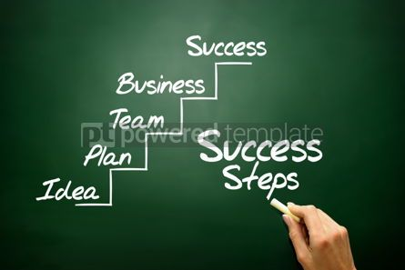 Business: Hand drawn Success Steps concept business strategy  #02812