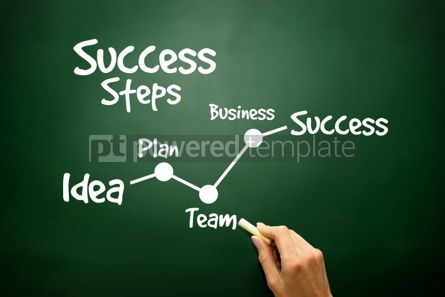 Business: Hand drawn Success Steps concept business strategy  #02813