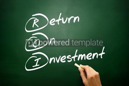 Business: Hand drawn Return On Investment (ROI) concept business strategy #02814