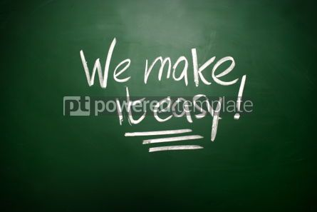 Business: We make it easy Chalk concept  