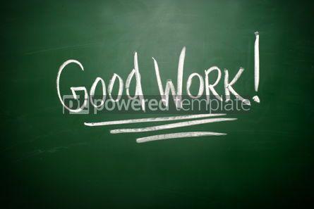 Business: Good Work writing written with Chalk   #02818