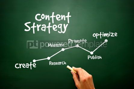 Business: Handwriting of Content Strategy concept presentation background #02821