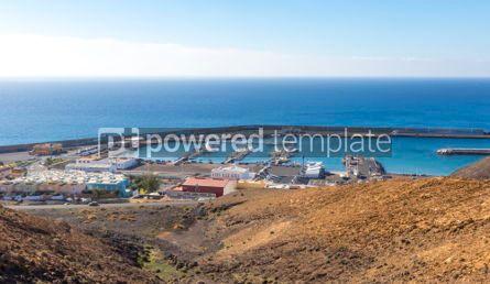 Nature: Port of Morro Jable on the south coast of Fuerteventura island  #02825