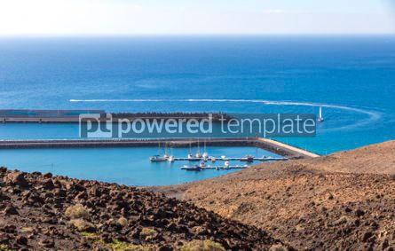 Nature: Port of Morro Jable on the south coast of Fuerteventura island  #02827