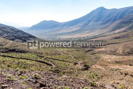 Nature: Hiking on Jandia Peninsula Fuerteventura Canary Islands Spain #02832