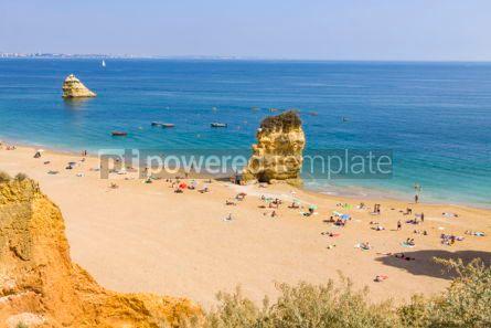 Nature: Praia da Dona Ana beach in Lagos Algarve region Portugal #02840