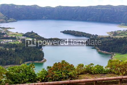 Nature: Lake of Sete Cidades on Sao Miguel island Azores Portugal #02842