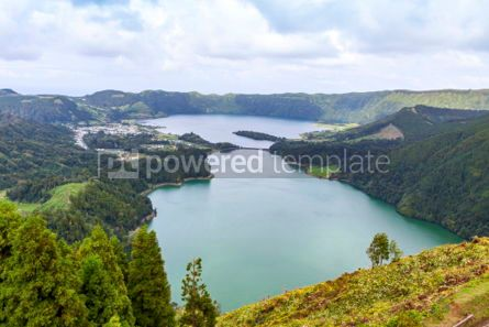 Nature: Lake of Sete Cidades on Sao Miguel island Azores Portugal #02843