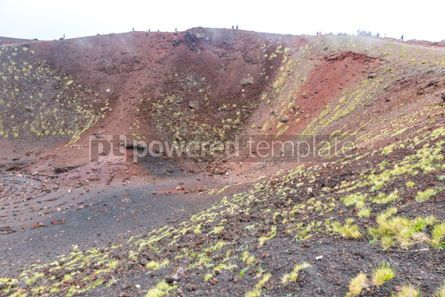 Nature: Crater Silvestri Inferiori (1886m) on Mount Etna Sicily Italy #02845