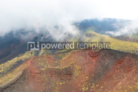 Nature: Picturesque volcanic landscape of Mount Etna Sicily Italy #02862
