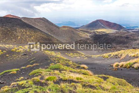 Nature: Picturesque volcanic landscape of Mount Etna Sicily Italy #02864