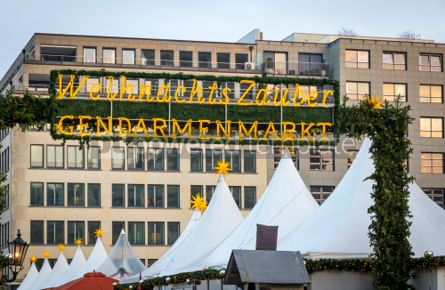 Holidays: Gendarmenmarkt Christmas Market in Berlin Germany #02869