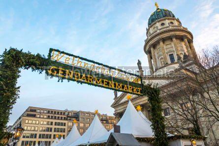 Holidays: Gendarmenmarkt Christmas Market in Berlin Germany #02870