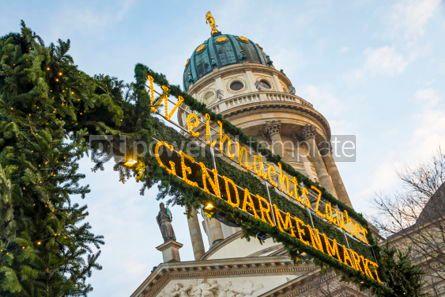 Holidays: Gendarmenmarkt Christmas Market in Berlin Germany #02871
