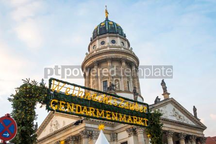 Holidays: Gendarmenmarkt Christmas Market in Berlin Germany #02873