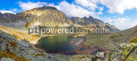 Nature: High Tatras Mountains (Vysoke Tatry) Slovakia. Lake over Skok w #02886