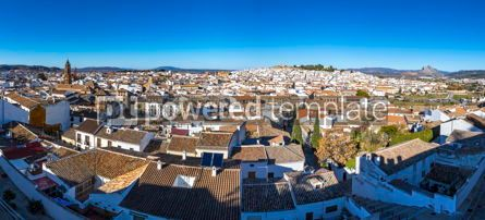 Architecture : Panoramic view of Antequera city province of Malaga Andalusia #02889
