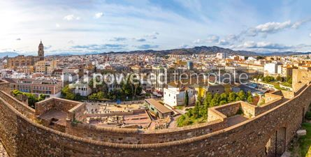 Architecture : Panoramic view of historic center of Malaga city Andalusia Spa #02890