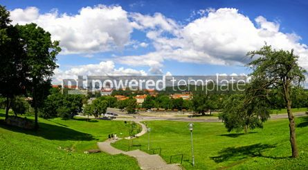 Architecture : Panoramic aerial view of Vilnius old town Lithuania #02893