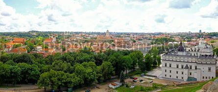 Architecture : Panoramic aerial view of Vilnius old town Lithuania #02894
