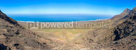 Nature: Panoramic view of Cofete Beach on Fuerteventura island Canary I #02897