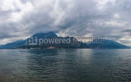 Nature: Panoramic view of Lake Como in Bellagio town Italy #02898