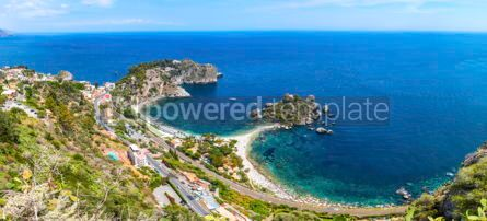 Nature: Isola Bella island and beach in Taormina Sicily Italy #02901