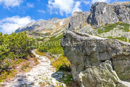 Nature: Hiking in High Tatras Mountains (Vysoke Tatry) Slovakia #02906