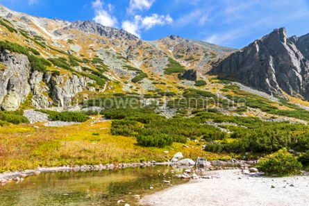 Nature: Hiking in High Tatras Mountains (Vysoke Tatry) Slovakia #02912