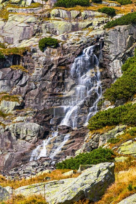 Nature: Skok waterfall in High Tatras Mountains (Vysoke Tatry) Slovakia #02914
