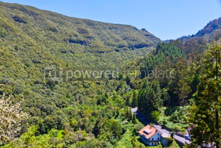 Nature: Aerial view of mountains on Madeira island Portugal #02946