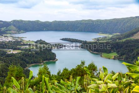 Nature: Lake of Sete Cidades on Sao Miguel island Azores Portugal #02947