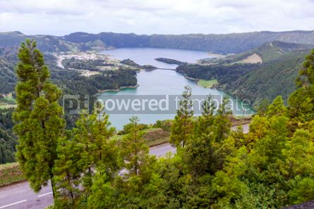Nature: Lake of Sete Cidades on Sao Miguel island Azores Portugal #02951