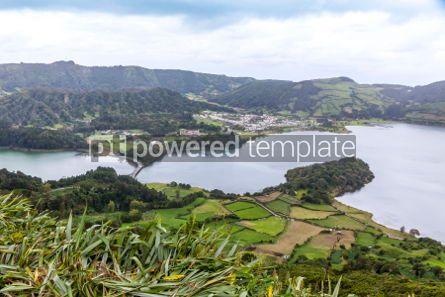 Nature: Lake of Sete Cidades on Sao Miguel island Azores Portugal #02953