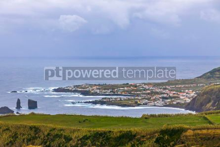 Nature: Atlantic Ocean coast of Sao Miguel Island Azores Portugal #02955