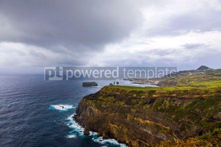 Nature: Atlantic Ocean coast of Sao Miguel Island Azores Portugal #02956