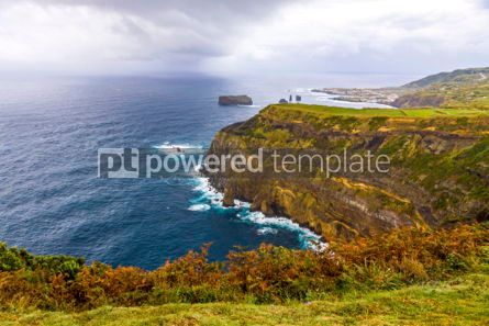 Nature: Atlantic Ocean coast of Sao Miguel Island Azores Portugal #02957