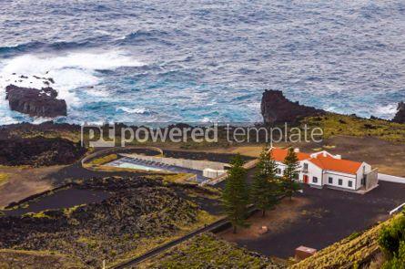 Nature: Ponta da Ferraria hot springs Sao Miguel island Azores Portug #02960