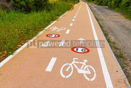 Nature: Bicycle lanes on Sardinia island Italy #02990